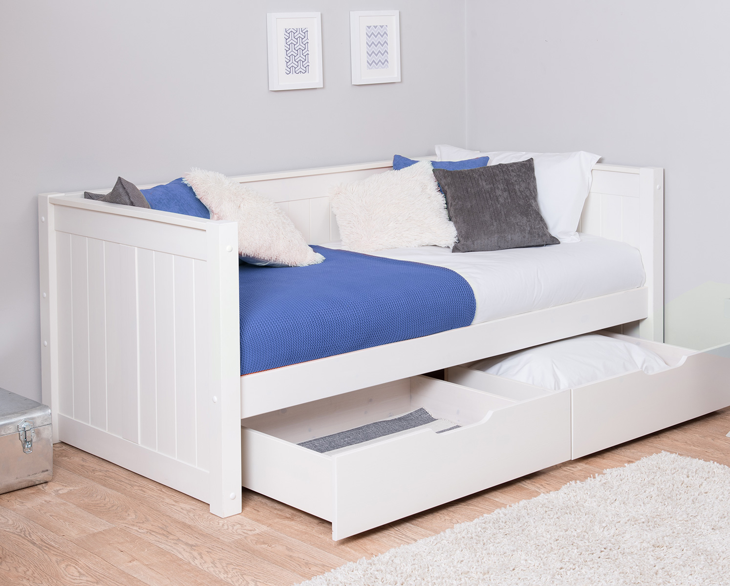 Classic Day Bed With Drawers By STOMPA For Children Amp Kids