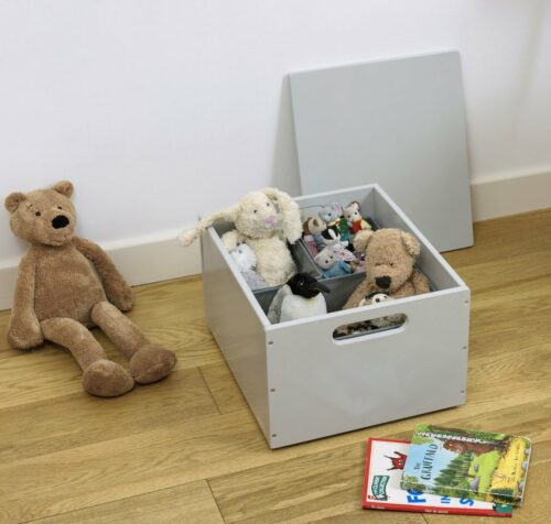 Stack Up Sort Box with Lid - Pale Grey by Tidy Books®