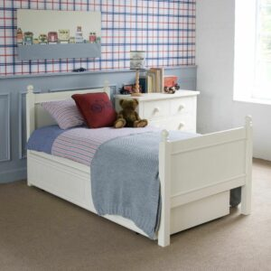 Fargo Single Bed - Ivory White by Little Folks