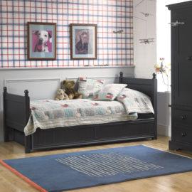 Fargo Single Bed with Trundle Painswick Blue for Kids Furniture Bedroom Little Folks Sleepovers Storage Children British Design