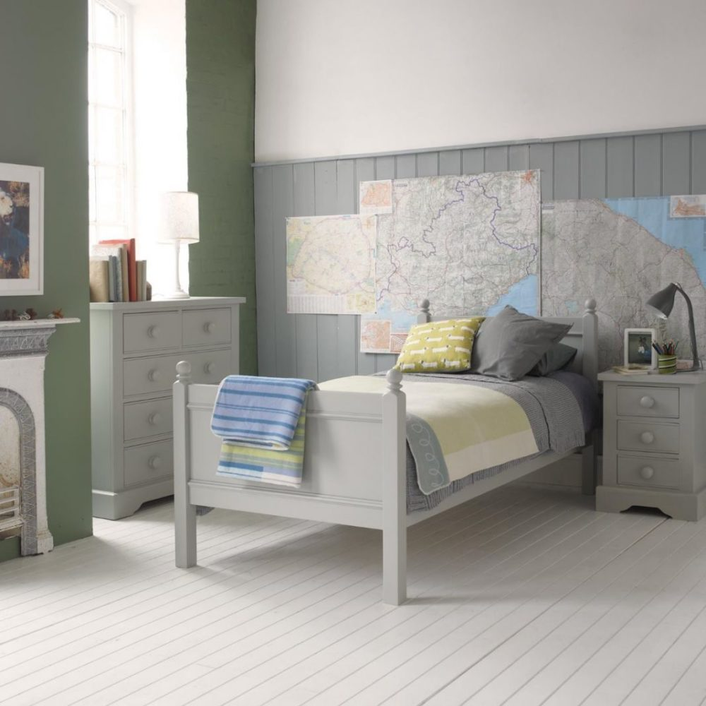 Fargo single bed farleigh grey by little folks Unfinished childrens bedroom furniture