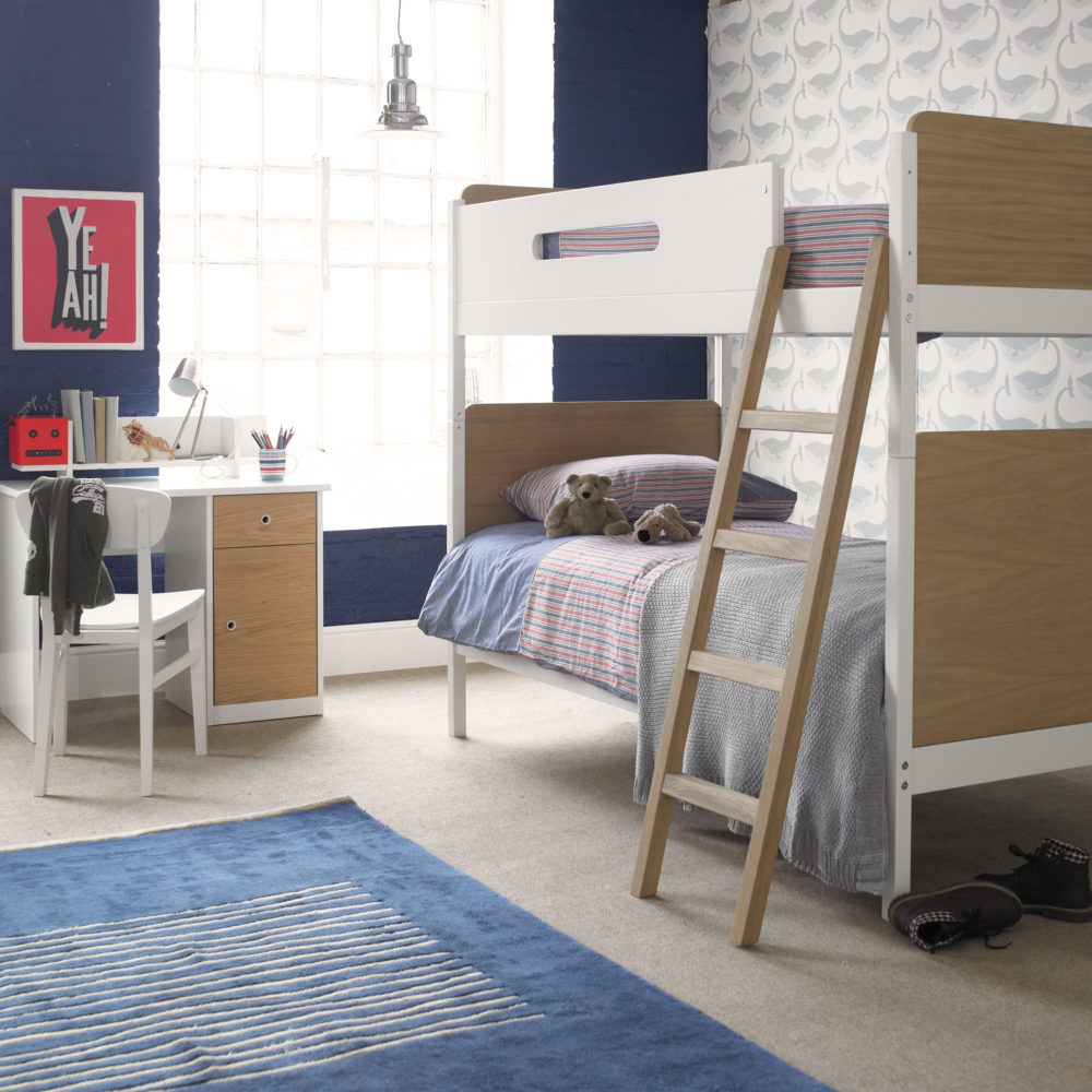 Simple Bunk Bed Oak White By Little Folks For Children