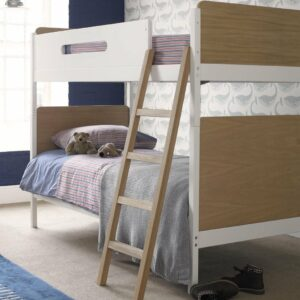 Simple Bunk Bed - Oak/White by Little Folks