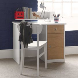 Simple Desk Oak White by Little Folks for Kids Homework Quality Furniture British Design Children