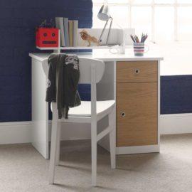 Simple Desk Oak White by Little Folks for Kids Homework Quality Furniture British Design Children