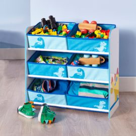 Dinosaur 6 Bin Storage Unit Kids Children Boys Storage Tidy Nursery, MDF Organiser, Furniture, Playroom Theme, Character