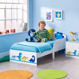 Dinosaurs Toddler Bed for Kids Children Bedroom