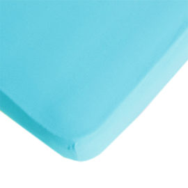 Fitted Sheet Aqua Turquoise 200 x 90cm Single Extra Length by Lifetime Kidsrooms kids Bedding Bedrooms Children Pure Cotton