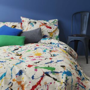 Splatter Duvet Set - White (Double)