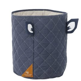 Quilted Fabric Toy Basket Bag Forest Ranger by Lifetime Kidsrooms Storage for Kids Children Blue
