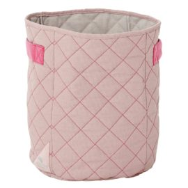 Quilted Fabric Toy Basket Bag Wild Child by Lifetime Kidsrooms Storage for Kids Children Pink