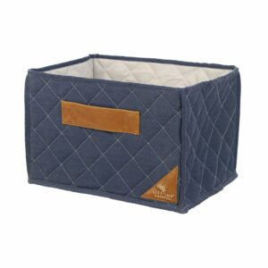 Quilted Fabric Toy Basket - Blue by Lifetime Kidsrooms