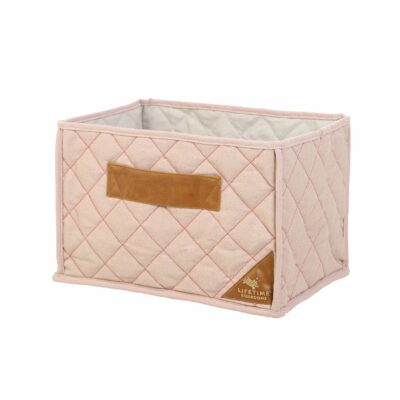 Quilted Fabric Toy Basket - Pink by Lifetime Kidsrooms