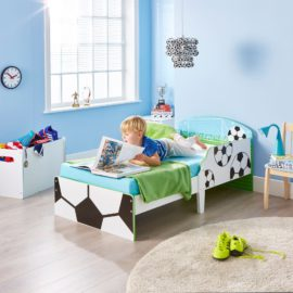Soccer Toddler Bed Kids Children Boys MDF Nursery Football Bedroom