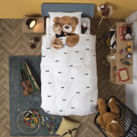 Teddy Single Duvet Set Kids Children Bedding Bedroom Cotton Photographic Bed Linen