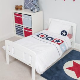 Big Star Single Duvet for Kids Boys Cotton Bedroom Bedding Applique