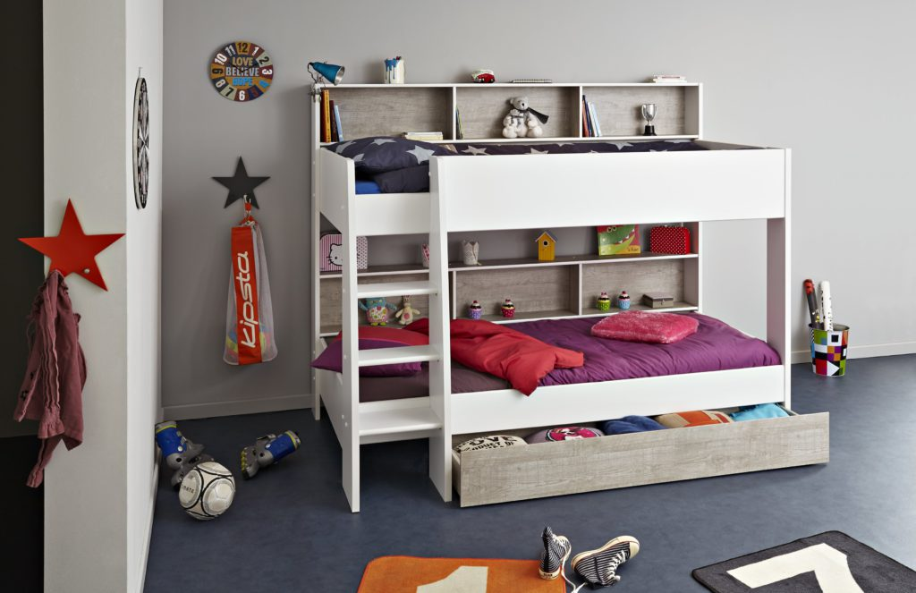 Taylor Bunk Bed, Loft Grey with White