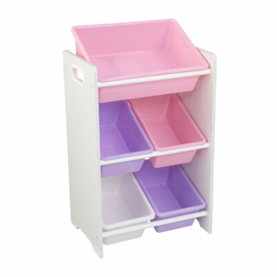 5 Bin Storage Unit - White