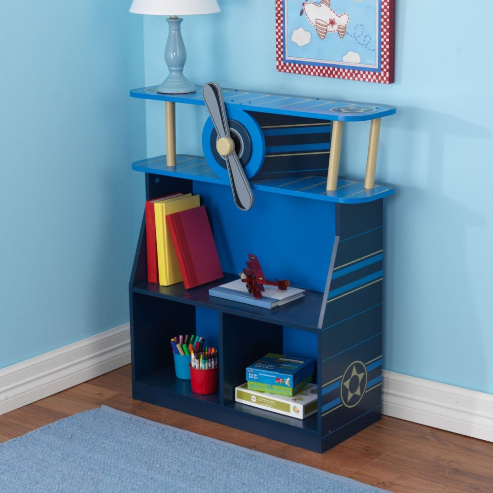 bookcase storage all childrens blue kidsroom for product kids bookshelf playroom airplane book boys in south africa children books bookcases