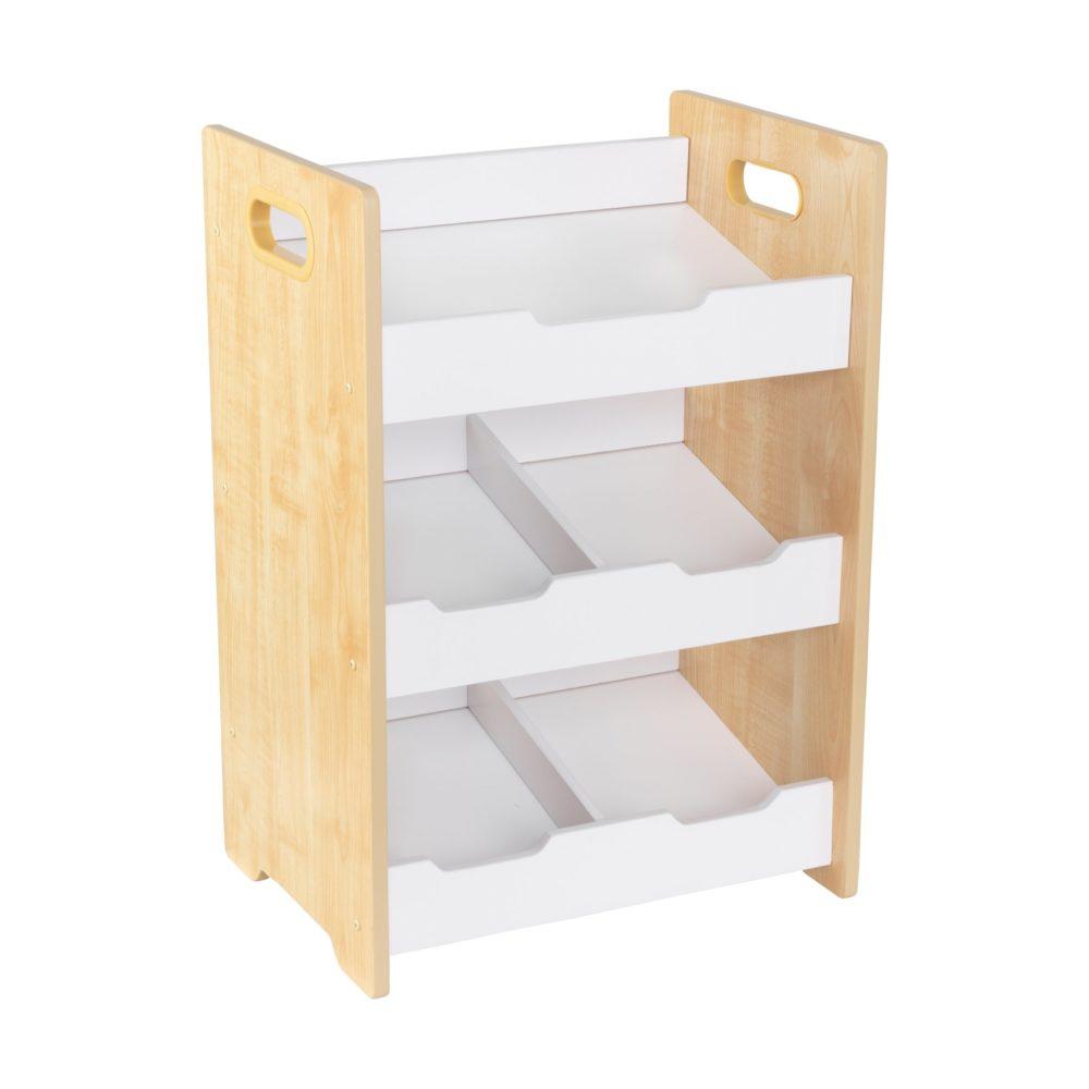 Soft White Kids Toy Chest Wood Box Bin Storage Organizer: White/Natural For Kids Storage