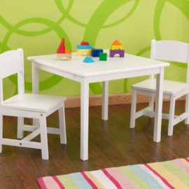 Aspen Playtable and 2 Chair Set White Kids Playroom Kidsroom Children