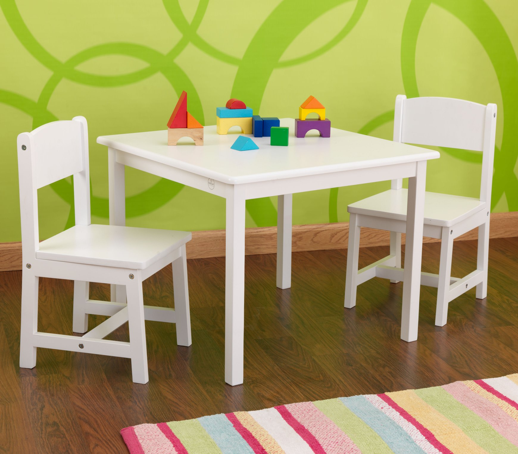 play tables  nest designs - aspen table   chair set – white