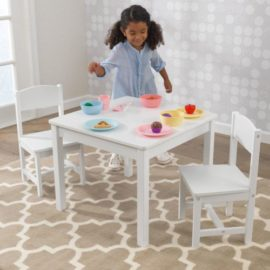 Aspen Playtable and Chair Set for Kids Children Playroom White Storage Toys Arts and Crafts