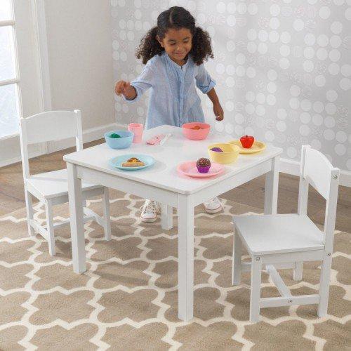 Aspen Table & 2 Chair Set - White