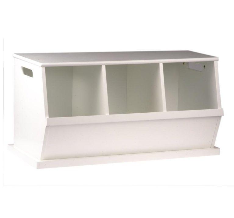 Camden Triple Stacking Storage Trunk - White