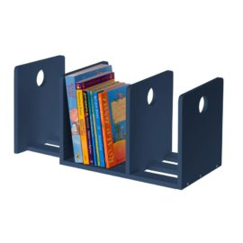 Circle Bookends for Kids Children Extending Navy Books Storage