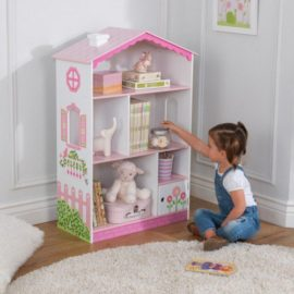 Dollshouse Bookcase Reading Bookshelf Storage for Kids Children Playroom Fabric Bedroom Kidsroom Girls