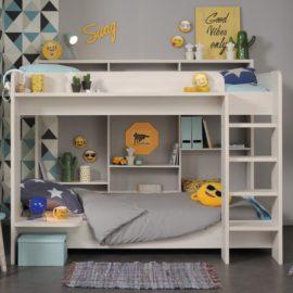 Harley Bunk Bed for Kids Children Bedrooms Nordic Ash Kidsroom Furniture Storage