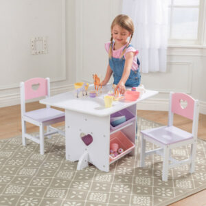 Heart Table & 2 Chair Set