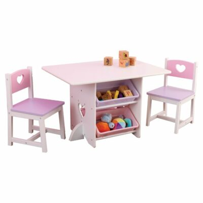 Heart Table & 2 Chair Set by KidKraft