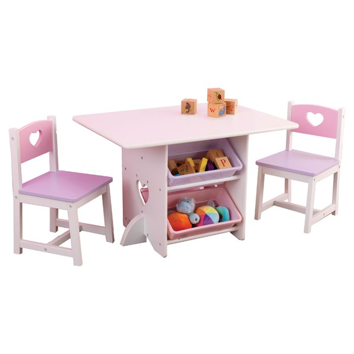 Heart Table 2 Chair Set for childrens playrooms in SA