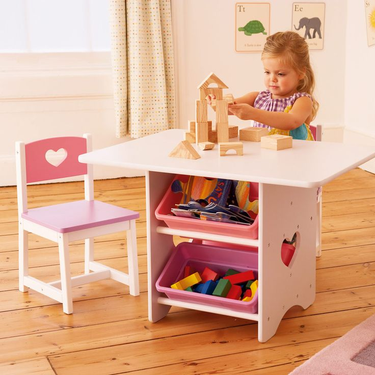 children s table with storage table amp 2 chair set for childrens playrooms in s a 14813