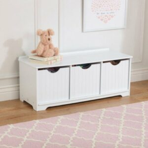 Nantucket Storage Bench - White