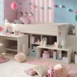 Peyton Midsleeper Bed for Kids Children Bedrooms Nordic Ash Teen Kidsroom Furniture