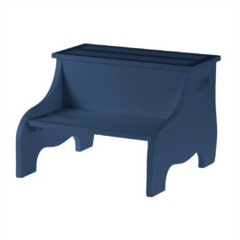 Safe Non Slip Step Stool Navy Kids Easy Reach Bathroom Bedroom Kidsroom Children