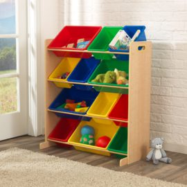 Sort it and Store It 12 Bin Storage Unit Natural Primary for Kids Playroom Kidsroom Children Toys Organsation