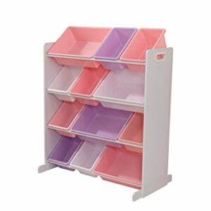 12 Bin Storage Unit - White