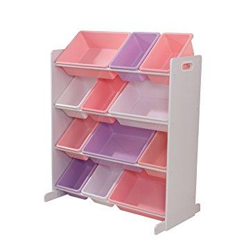 12 Bin Storage Unit - White