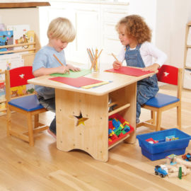 Star-Table-and-Chair-Set-with-Bin-Storage-Units-Natural-Primary-for-Kids-Playroom-Kidsroom-Children-Toys