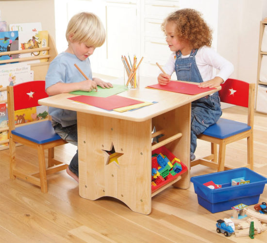 Star Table & 2 Chair Set