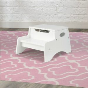Step & Store Stool - White