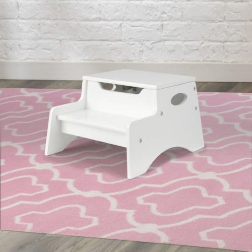 Step & Store Stool - White