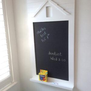 Happy Home Blackboard with Shelf - White