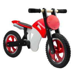 kiddimoto scrambler balance bike red ride ons kids children boys wooden