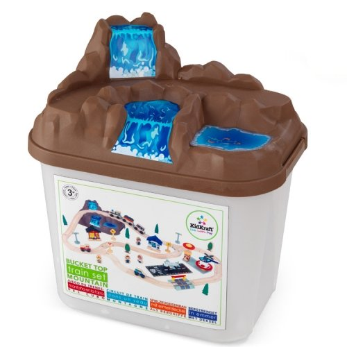 Boy Toys Packaging : Bucket top mountain train set for children in s a