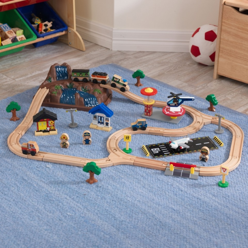 Imagination Toys For Boys : Bucket top mountain train set for children in s a